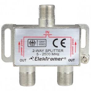 1/2 SPLITTER 5-2400 MHZ ELEKTROMER * TENON ZE-2122 (5'Lİ PAKET)