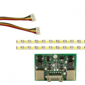 20 UNİVERSAL MONİTÖR E-LED 75 LEDLİ (2835) 440MM 12V ÇİFT LED+SÜRÜCÜ+KABLO TAKIM