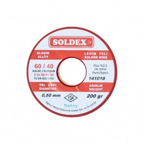 200 GR LEHİM İNCE 0,50 MM SOLDEX  SN60 PB40
