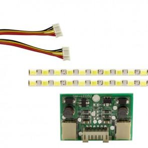 22* UNİVERSAL MONİTÖR E-LED 69 LEDLİ (2835) 480MM 12V ÇİFT LED+SÜRÜCÜ+KABLO TAKIM  (WK-142) (35654)