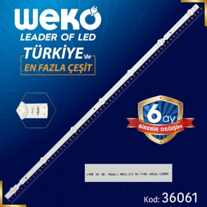 32 ROW2.1 REV 0.9 1 A1-TYPE 6916L-1105A/1204A - 63.2 CM 7 LEDLİ  BAKIR FR4 34562 PANEL ÇIKMASI