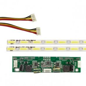 32 UNİVERSAL E-LED 36 LEDLİ (7020) 350MM 360-450MA 36-39V ÇİFT LED+SÜRÜCÜ+KABLO TAKIM (WK-1366)