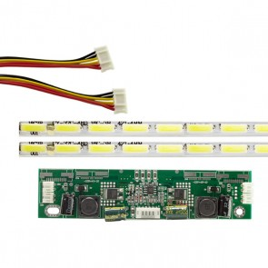 37 UNİVERSAL E-LED 48 LEDLİ (7020) 420MM 360-450MA 48-51V ÇİFT LED+SÜRÜCÜ+KABLO TAKIM (WK-1367)