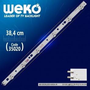 39-3535LED-60EA-R - D1GE-390SCB-R1 - 38.4 CM 6 LEDLİ (WK-805)