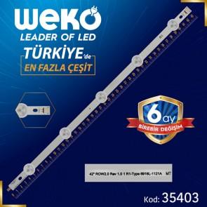 42 ROW2.0 REV 1.0 1 R1-TYPE 6916L-1121A MT - 43.6 CM 5 LEDLİ - (WK-990)