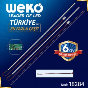 55 UNİVERSAL E-LED 69 LEDLİ (7020) 610MM 360-450MA 72-75V ÇİFT LED+SÜRÜCÜ+KABLO TAKIM (WK-0367)