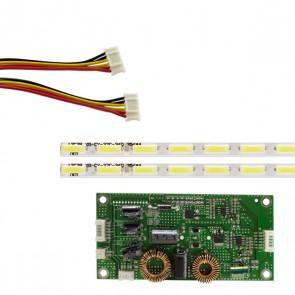 55 UNİVERSAL E-LED 72 LEDLİ (7020) 614MM 360-450MA 72-75V ÇİFT LED+SÜRÜCÜ+KABLO TAKIM (WK-1372)
