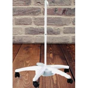 Akrobat Büyüteç İçin Tekerlekli Büyüteç Standı Beyaz Renk