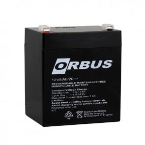 AKÜ 12 VOLT 5 AMPER POWERMASTER - ORBUS ( 90 X 70 X 101 MM )