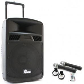 Alfon Afts-3415Cb 15'' 38Cm 150W Aktif Şarjlı Speaker (Tekerli Ve Çekl