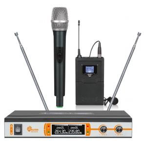 Alfon ATM-V6100 1EL 1Yaka VHF Digital Ekranlı Telsiz Mikrofon