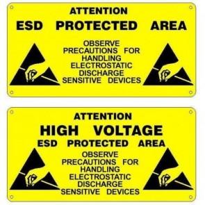 Antistatik Uyarı Tabelası 15x30cm EAS-2061