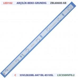 Arçelik Beko Grundig ZBL60600-AB C 55VLE820BL LSC550HVF0.2 Tv Led Bar