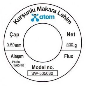 Atom 0.50mm 500Gr Kurşunlu Lehim Teli