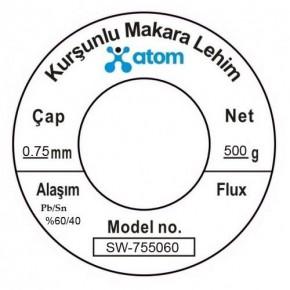 Atom 0.75mm 500Gr Kurşunlu Lehim