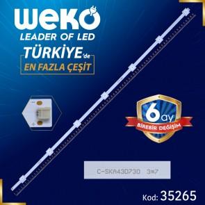 C-SKA43D730 3*7 - YAL13-00715150-00-G09-210-220-3.0-3.2-6216 - 81.5 CM 7 LEDLİ - (WK-412)