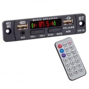 CLASS USB-128 USB/MIC/AUX/BLUETOOTH KUMANDALI OTO TEYP ÇEVİRİCİ DİJİTAL PLAYER BOARD