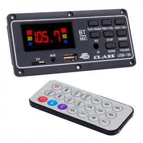 CLASS USB-130 USB/SD/MIC/AUX/BLUETOOTH KUMANDALI EKRANLI OTO TEYP ÇEVİRİCİ DİJİTAL PLAYER BOARD
