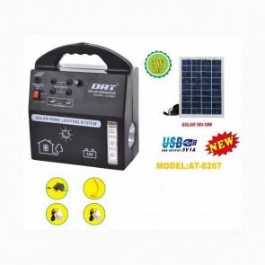 DAT AT-8207 Solar LED Aydınlatma Sistemi 12v-7000mah Usb +2 Ampül