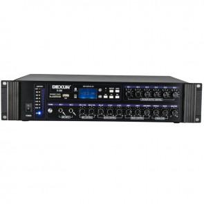 DEXUN D-300 250W 3 ZONE İKİ MİK GRŞ USB-BT 4/16-70-100V HAT TRAFOLU ANFİ