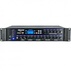 DEXUN D-400 500 W 100V/70V/4-16 OHM USB/SD/BT 6 BÖLGELİ 3 MİK 3 AUX GİRİŞLİ TRAFOLU MIXER ANFİ