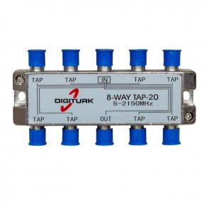 DIGITURK 5-2150 MHZ 20DB 8 YOLLU TAP SWITCH 1/8 SPLITTER
