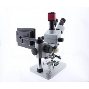 Digital + Analog Mikroskop 7x-45x Stereo Zoom , Hd Lcd Ekranlı