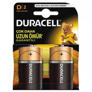 DURACELL D BÜYÜK BOY  PİL 2Lİ PAKET