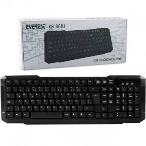 EVEREST KB-861U SİYAH USB Q STANDART KLAVYE