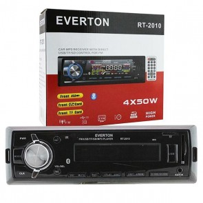 EVERTON RT-2010BT USB/SD/FM/AUX/BT MEKANİKSİZ OTO TEYP 4 X 50 WATT BLUETOOTH LU