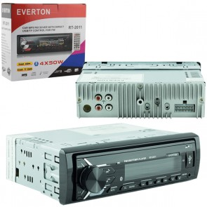 EVERTON RT-2011BT USB/SD/FM/AUX/BT MEKANİKSİZ OTO TEYP 4 X 50 WATT BLUETOOTH LU