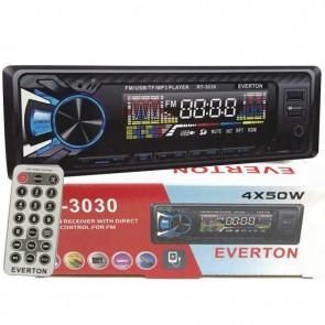 EVERTON RT-3030 USB/SD/FM/AUX MEKANİKSİZ OTO TEYP 4 X 50 WATT ÇİFT USB