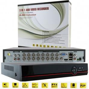 EZCOOL EZ-6216AHD 16 KANAL 6 SES 2 HDD 1080P DESTEKLİ AHD DVR KAYIT CİHAZI