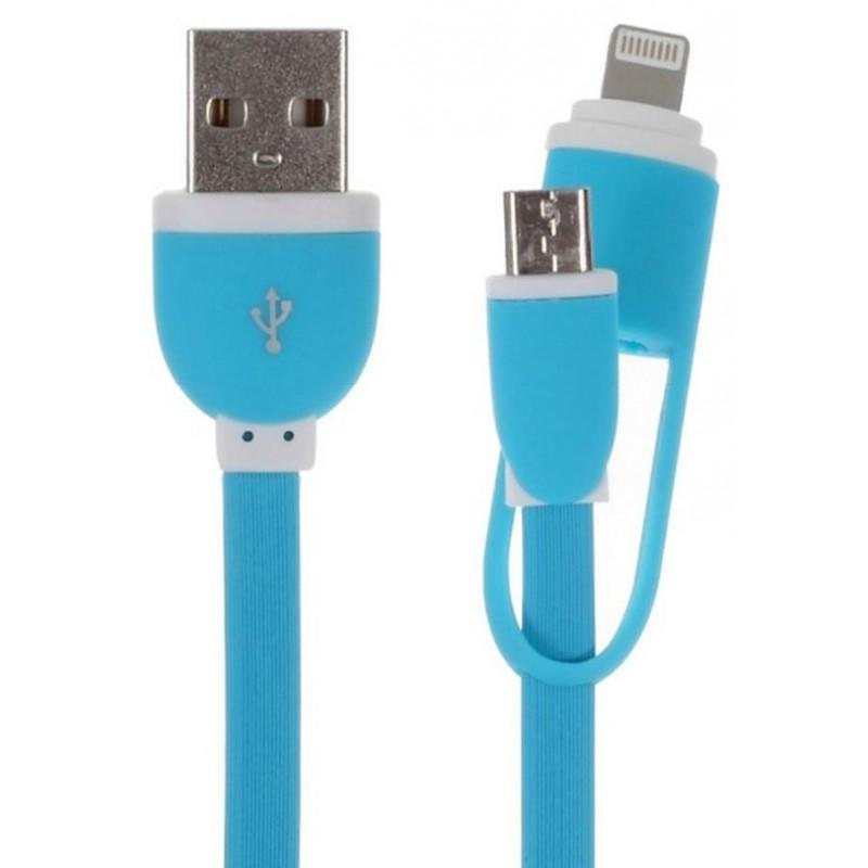 Gblue GX10 Micro USB / İphone Hızlı Şarj ve Data Kablosu 2in1