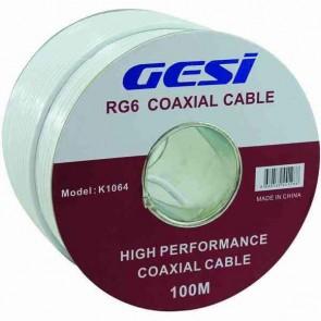 Gesi K-1064 Rg6 Anten Kablosu 64 Telli 100 Mt Kağıt Makaralı