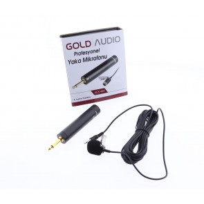 Gold Audio Acs-444 Yaka Mikrofonu 6Mt. Kablolu