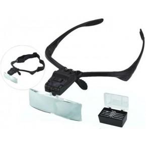 Gözlük Tipi Kafa Büyüteci Ledli NO-9892B