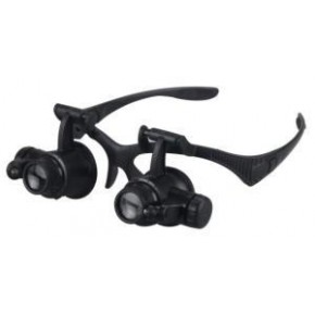 Gözlük Tipi Led Işıklı Kafa Büyüteç NO-9892G