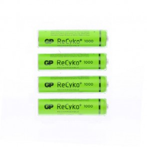 Gp 1000 Mah Şarj Edilebilir Aaa Pil Recyko+Rechargeable (4'lü Paket)