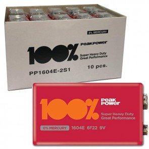 GP PEAK POWER 9 VOLT PİL PP1604E-2S1 (10LU PAKET)