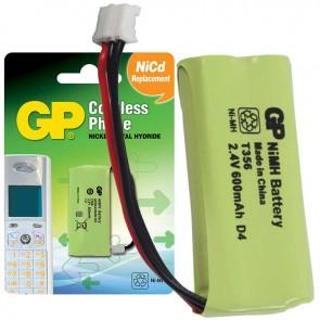GP T356  2U1 2.4V - 600 MAH 3 KABLOLU TELSİZ TELEFON PİLİ