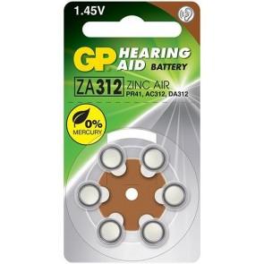 GP ZA312 1.45v İşitme Cihazı Kulaklık Pili