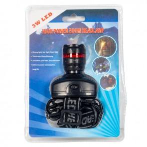 GREYDER GD-710 3*AAA PİLLİ 3 WATT POWER LEDLİ ZOOMLU KAFA FENERİ