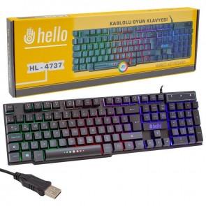HELLO HL-4737 KABLOLU OYUNCI GAMING KLAVYE