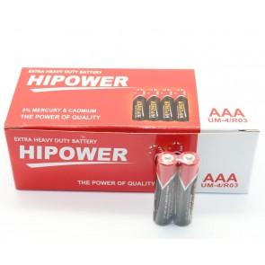 HIPOWER AAA İNCE KALEM PİL 60-LIK PAKET