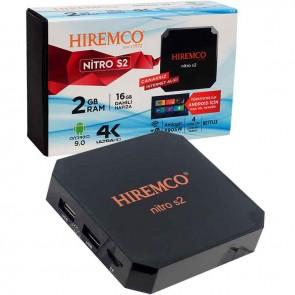 HIREMCO NITRO S2 2GB DDR3 RAM 16GB HAFIZA DAHİLİ WİFİ NETFLIX ANDROID BOX
