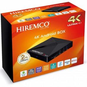 HIREMCO SMART 4 4K 9.0 ANDROID BOX 4GB DDR3 RAM DAHİLİ WİFİ NETFLIX UYDU ALICISI