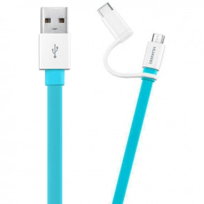 HUAWEİ 2İN1 MİCRO USB + TYPE-C DATA ŞARJ KABLOSU AP55S