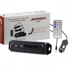 JAMESON JS-6USB MİKROFONLU BLUETOOTH/AUX USB/SD/MMC KUMANDALI OTO TEYP ÇEVİRİCİ DİJİTAL PLAYER