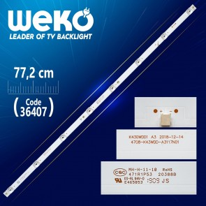 K430WDD1 A3 4708-K43WDD-A3117N01 8 LEDLİ  77.2 CM